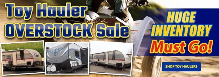 Toy Hauler Overstock Sale