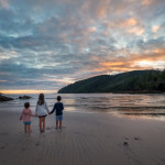 Kids RV camping on Vancouver Island