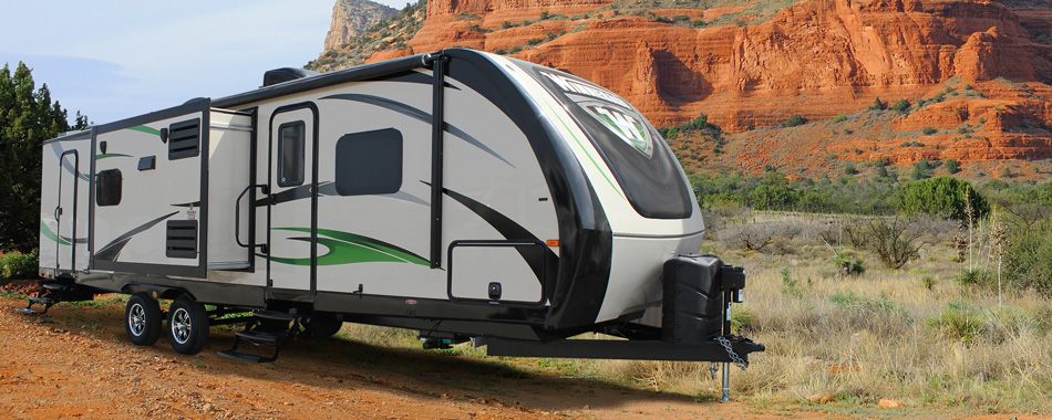 exterior of ultralite travel trailer
