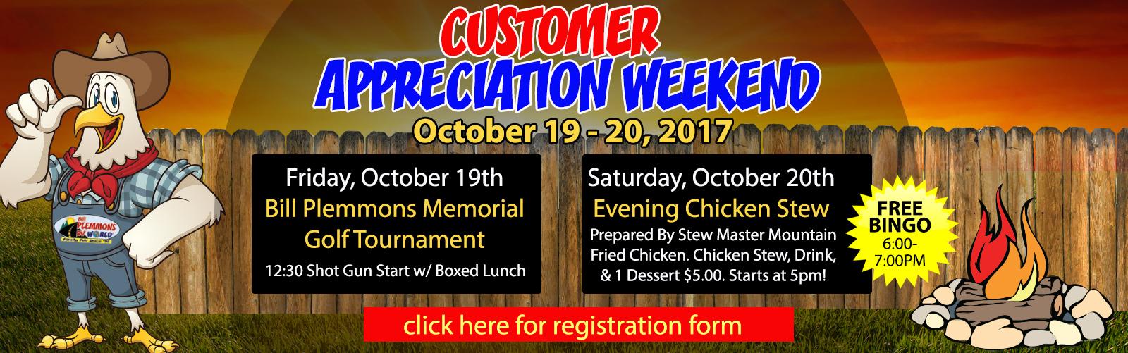 bill plemmons customer appreciation rv sale 2018 chicken stew