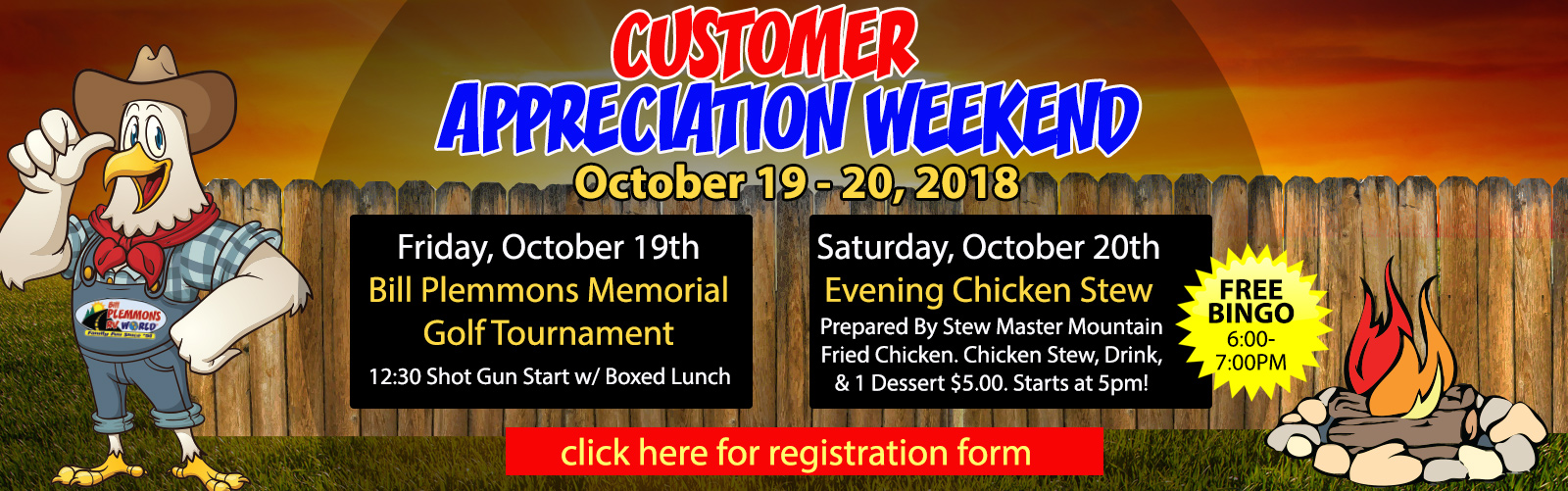 Bill Plemmons Customer Appreciation Weekend