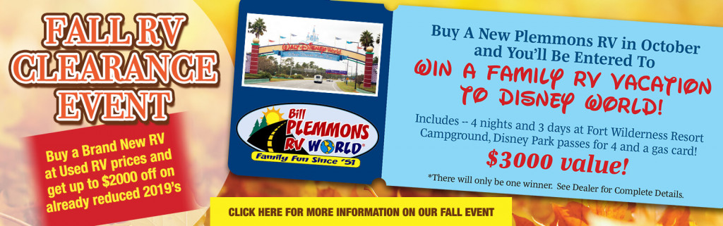 Fall RV Clearance Event