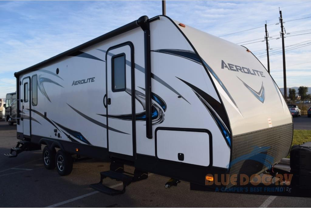 Good Dutchmen Aerolite 2520RKSL Travel Trailer: Rear Kitchen Convenience   Blue  Dog RV