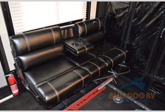 Dutchmen Voltage Fifth Wheel Toy Hauler Garage Seating