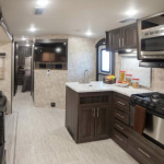 open range travel trailer kitchen