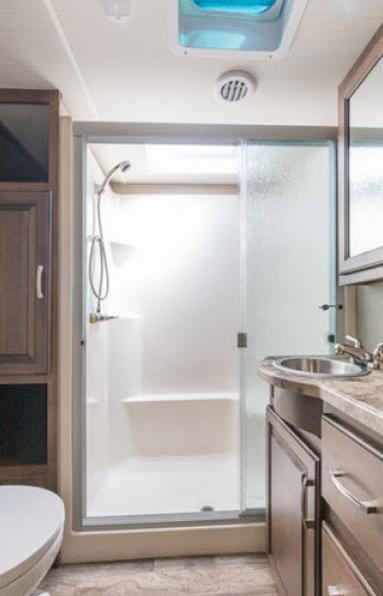 bathroom reflection fifth wheel