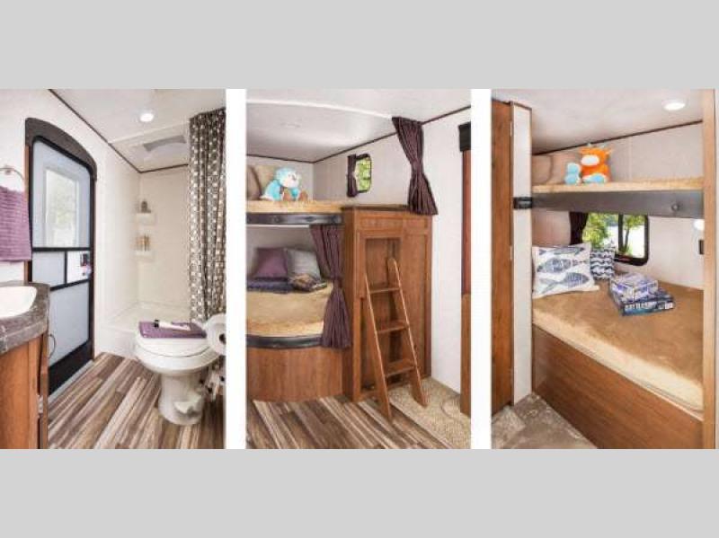 bathroom and bunks in jay flight slx
