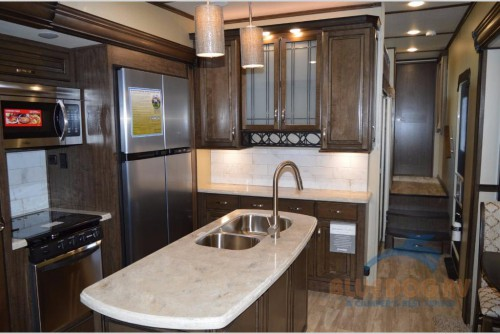 Grand Design Solitude 377MBS Fifth Wheel Kitchen