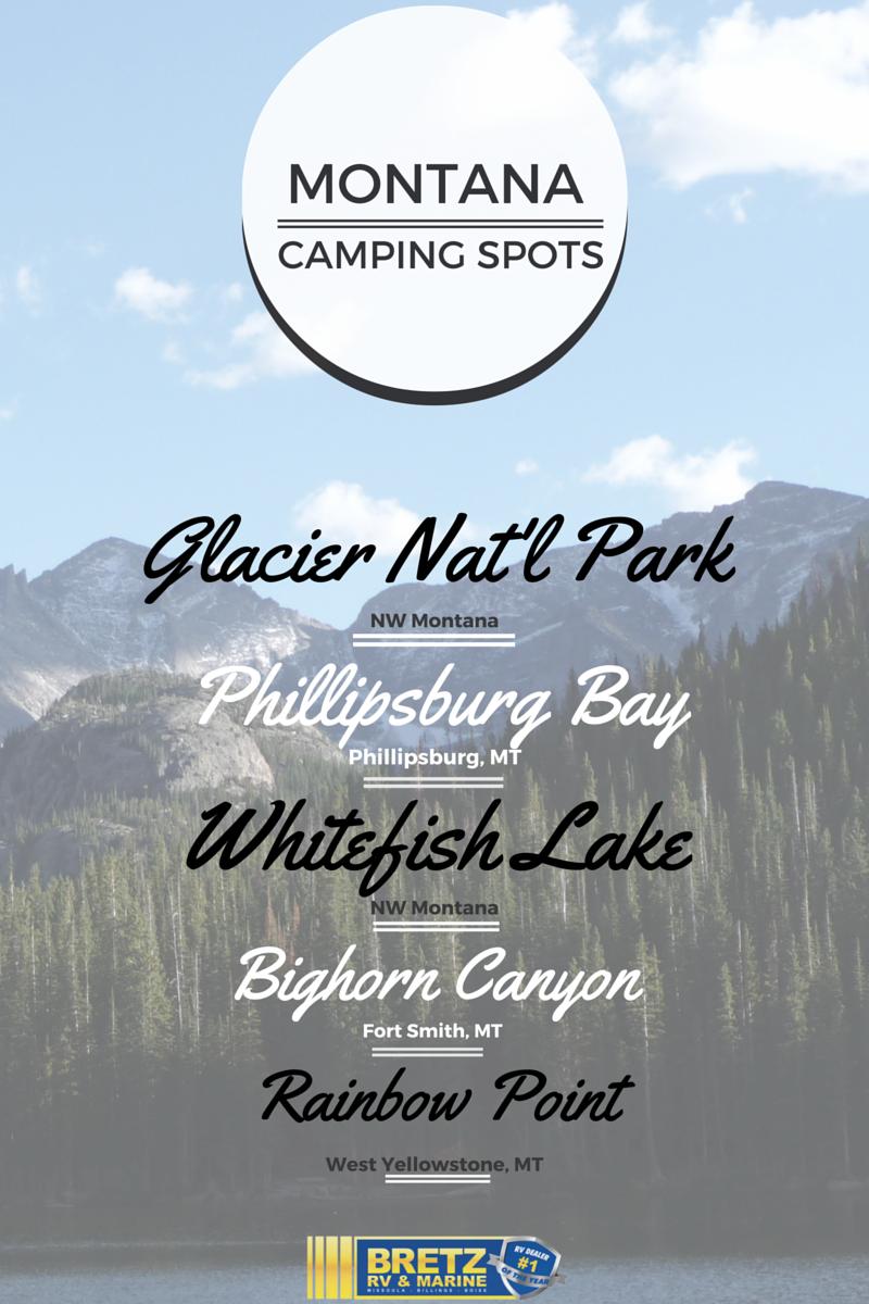 5 Montana Camping Spots You Ll Love Bretz Rv