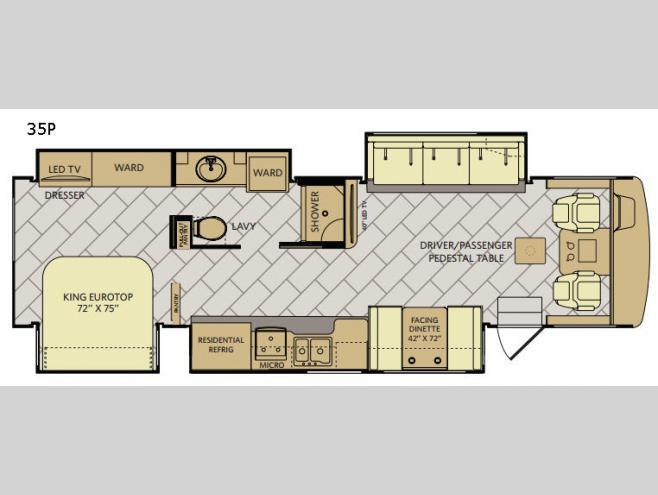 Fleetwood Bounder Class A Motorhome 35P Floorplan