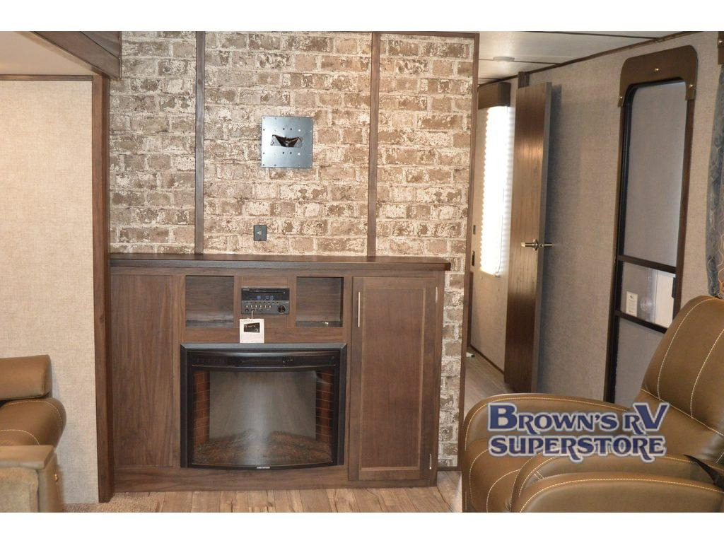 Forest River Cherokee Alpha Wolf Review Travel Trailer Brown's RV South Carolina Fireplace