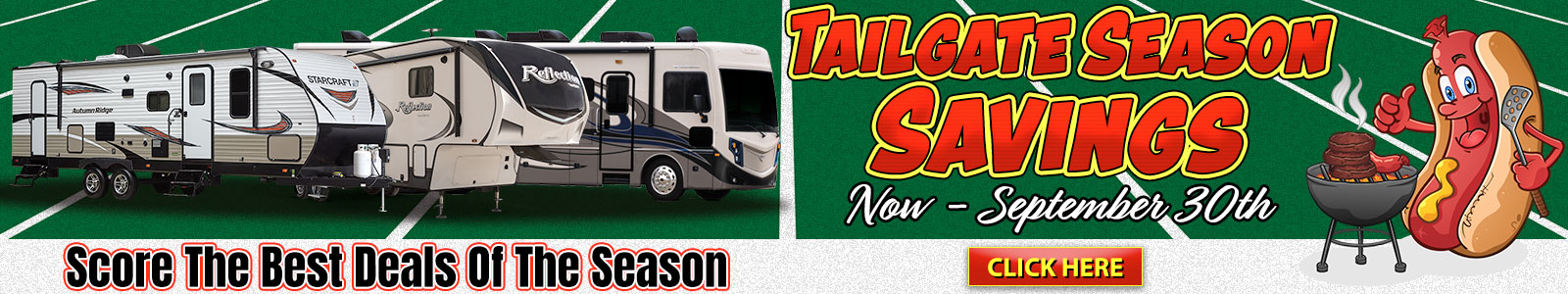 RV Sale September Tailgate RV Season Brown's RV Superstore