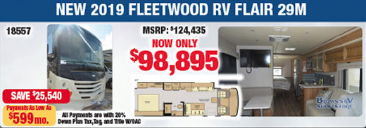 Tailgate RV Season September RV Sale Brown's RV Superstore Fleetwood Flair