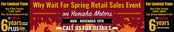 Why Wait For Spring Sales Event