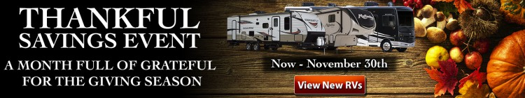 Thankful RV Savings Event