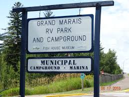 Welcome Sign Grand Marais