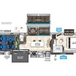 Grand Design Momentum 399TH Toy Hauler Floorplan