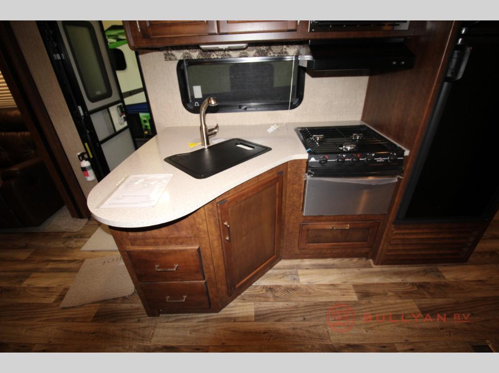 kitchen in Keystone Outback 333FE