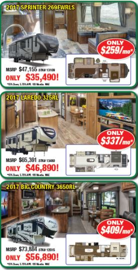 Byerly Customer Appreciation Sale Fifth Wheels