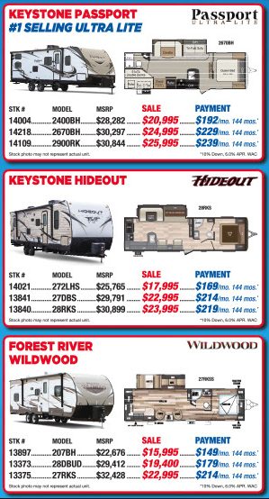 Byerly RV Beat The Rush Travel Trailer Sale