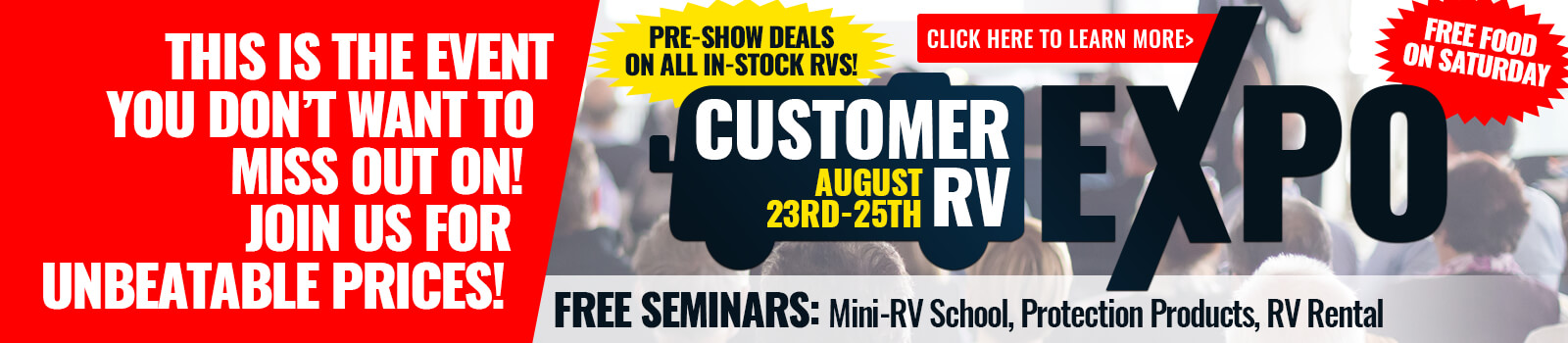 RV Expo Byerly RV RV Show August Banner