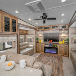The Coachmen Chaparral 381RD features a huge Rear Den for the whole family. See it at Byerly RV in Eureka, MO