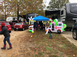 The Byerly RV Fall Campout featured trick or treating for Halloween