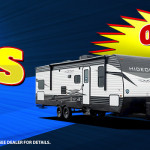 Get no payments through 2020 now  on any new RV at Byerly RV.  Visit dealer for details.