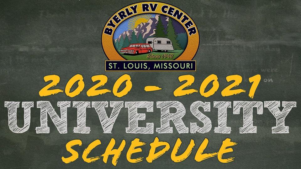 Byerly Rv University Schedule 2020-21