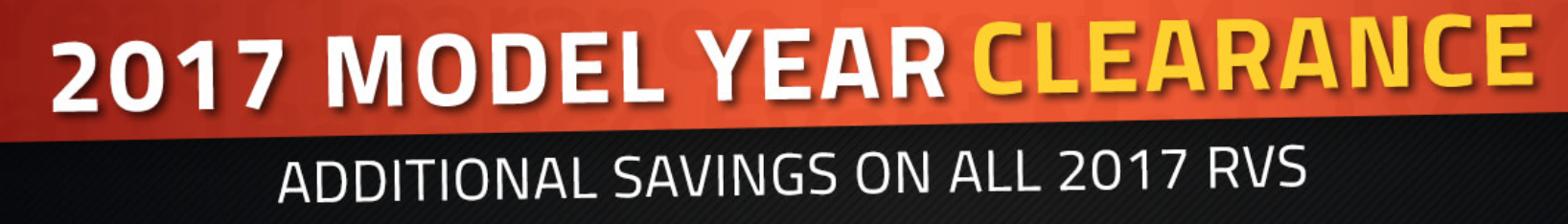 2017 Model Year Clearance