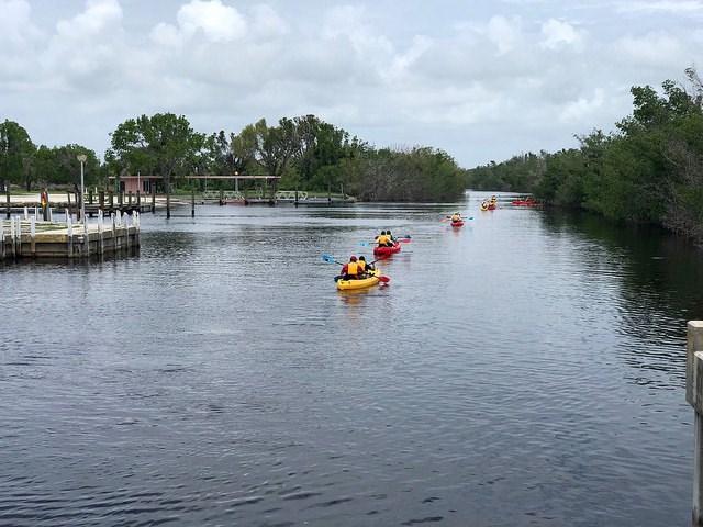 Kayaking in Flamingo Campground