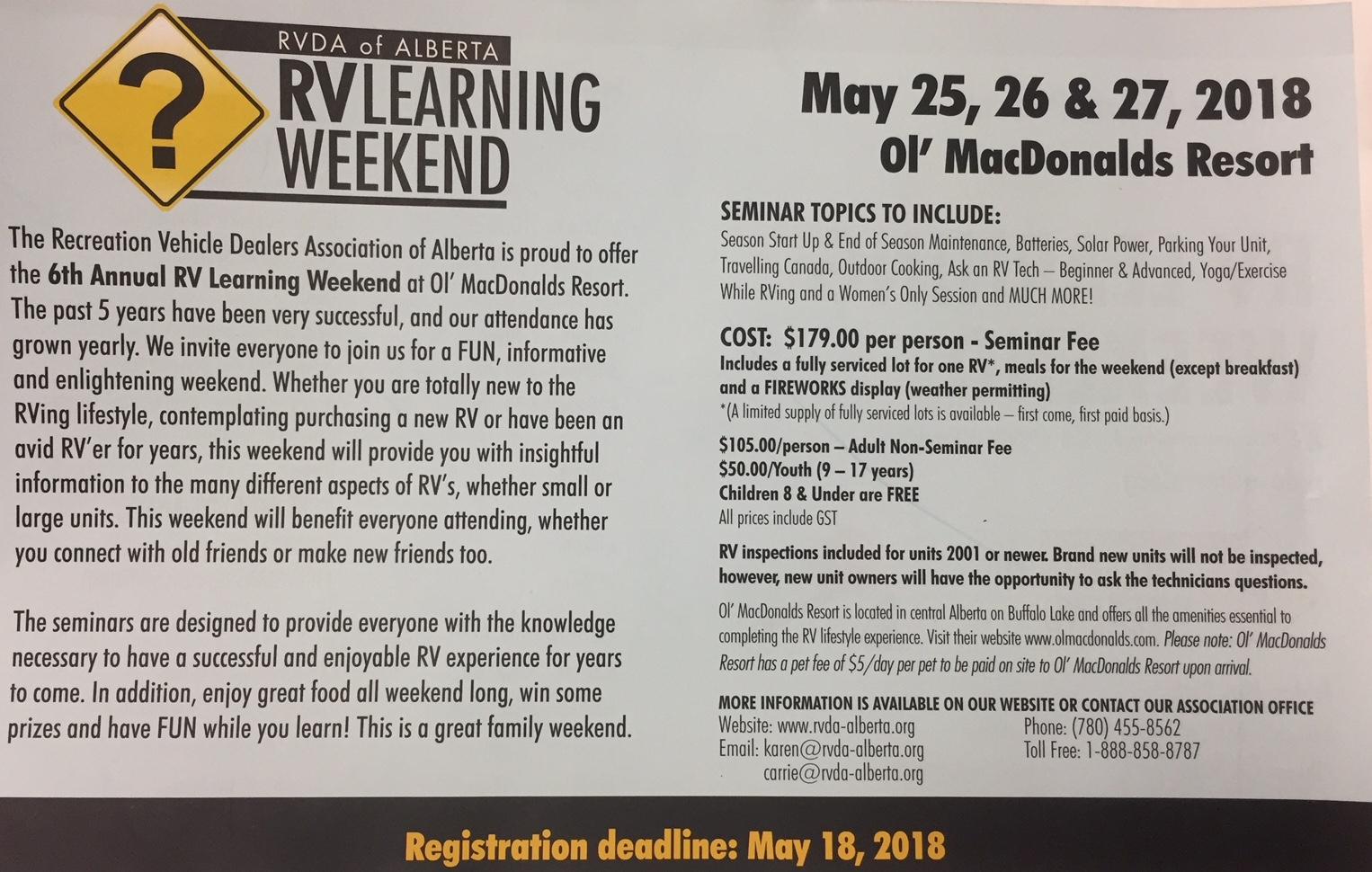 RVDA Learning Weekend Image