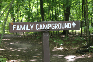 Family Campground Sign