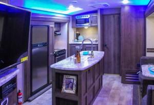 Spree Travel Trailer Kitchen