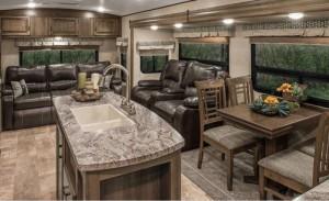 Spree Travel Trailer Living Area