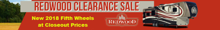 Redwood Fifth Wheel RV 2018 Clearance Sale