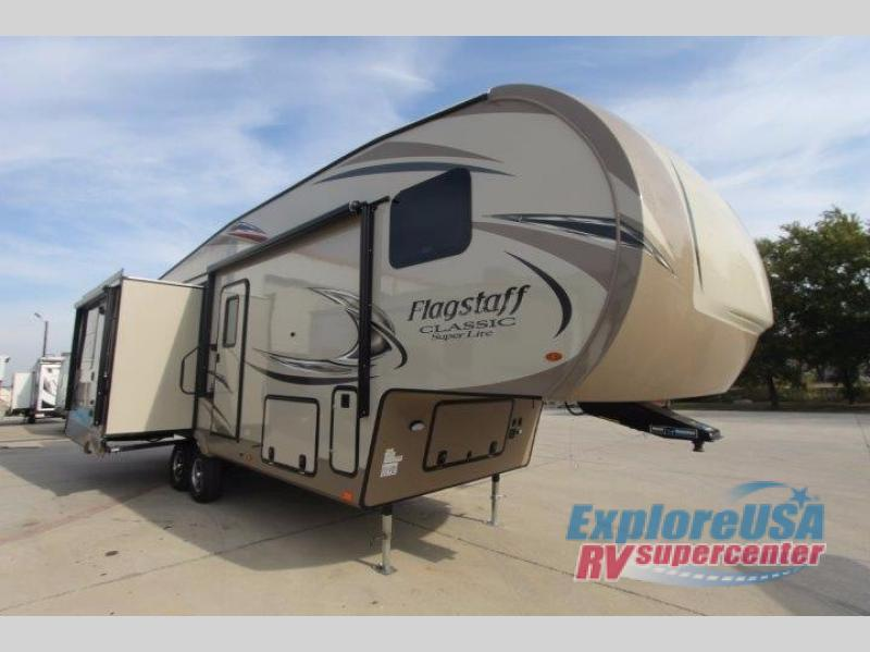 ExploreUSA RV Hail Sale Denton TX Flagstaff Classic Super Lite Fifth Wheel