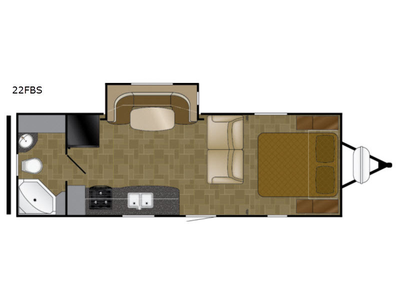 Heartland North Trail  Review 22FBS Travel Trailer Floorplan