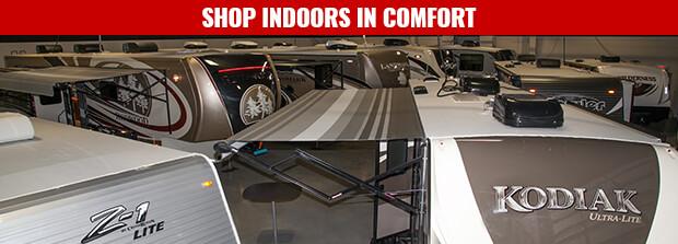 Houston RV Show Deals ExploreUSA RV In Alvin Texas Indoor Showroom