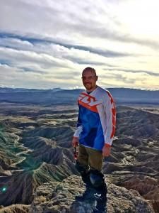 derek on the hills in desert
