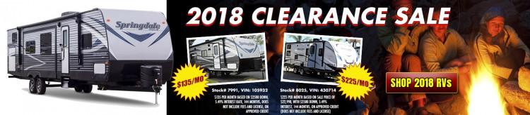 2018 Clearance Sale