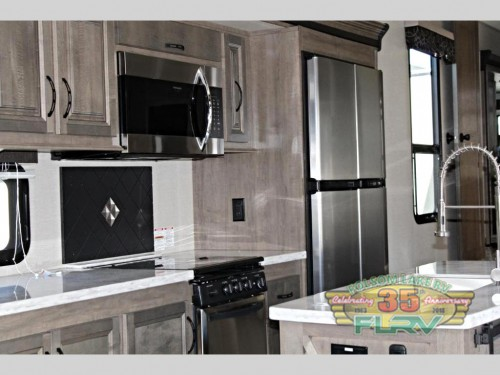 KZ Durango Gold Fifth Wheel Kitchen