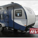 Winnebago Minnie teardrop camper blue