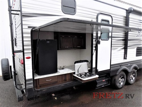 Jayco Jay Flight 32BHDS Travel Trailer bunkhouse Outside Kitchen