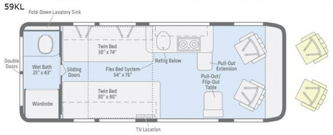 Travato Floor plan