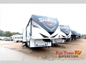 The Prime Time RV Spartan fifth wheel.