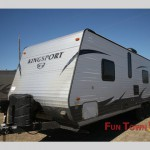 The Gulf Stream Kingsport travel trailer.