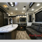 Evergreen Tesla Fifth Wheel Toy Hauler Interior