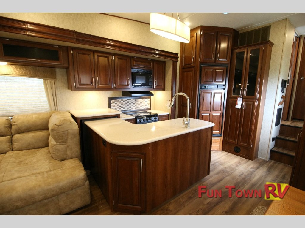 Forest River Black Diamond Fifth Wheel Kitchen