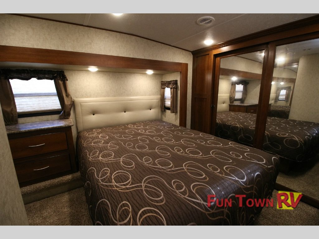 Forest River Black Diamond Fifth Wheel Master Bedroom